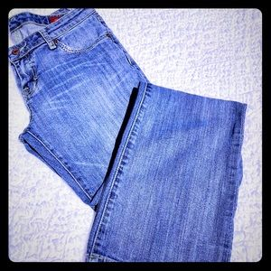 Seven Jeans Bootcut Bling Accents Front Pockets